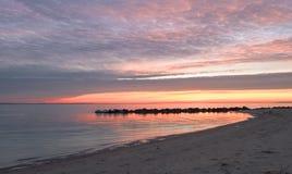 Восход солнца от пляжа Стоковые Фотографии RF
