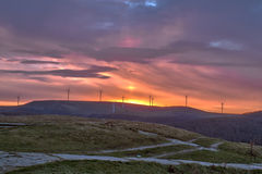 Восход солнца от Buzludzha стоковое изображение