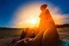 Восход солнца долины гоблина стоковые фотографии rf