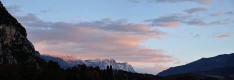Восход солнца доломита Стоковая Фотография