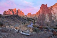 Восход солнца парка штата утеса Смита Стоковое Изображение RF