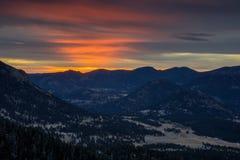 Восход солнца парка Estes Стоковые Фотографии RF