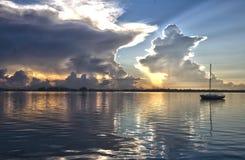 Восход солнца парусника Стоковое Изображение