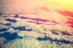 восход солнца пасмурного неба Стоковое Изображение