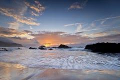 Восход солнца побережья Тайваня стоковые изображения rf