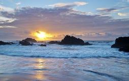 Восход солнца побережья Тайваня стоковые фотографии rf