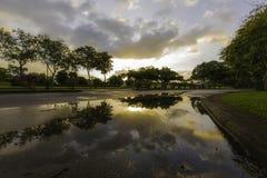 Восход солнца после идти дождь Стоковые Фотографии RF