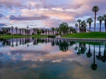 Восход солнца поля для гольфа Стоковое фото RF