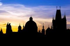 Восход солнца Праги стоковое изображение rf