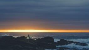 Восход солнца прибоя стоковые изображения rf