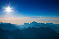 восход солнца природы горы состава Стоковая Фотография