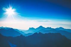 восход солнца природы горы состава Стоковая Фотография RF