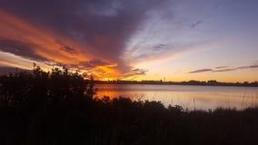 Восход солнца пруда Стоковая Фотография