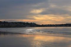 Восход солнца пляжа 1 гавани Swampscot Стоковое фото RF
