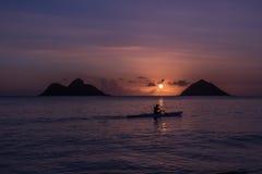 Восход солнца пляжа Оаху Стоковое Фото