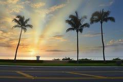 восход солнца пляжа тропический стоковое изображение