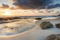 Восход солнца пляжа Стоковая Фотография