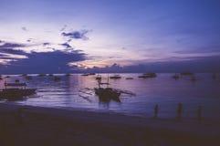 Восход солнца пляжа Alona Стоковое фото RF