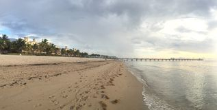 Восход солнца пляжа Fort Lauderdale Стоковые Фотографии RF
