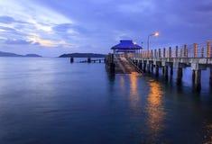 Восход солнца пляжем Стоковые Фото