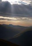 Восход солнца района озера Стоковые Фото