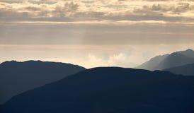 Восход солнца района озера Стоковое Изображение RF