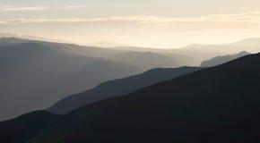 Восход солнца района озера Стоковые Изображения RF