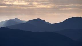 Восход солнца района озера Стоковое Фото