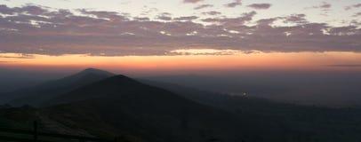 Восход солнца рассвета в пиковом районе стоковое изображение rf