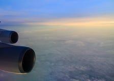 Восход солнца радуги от самолета Стоковое Изображение RF