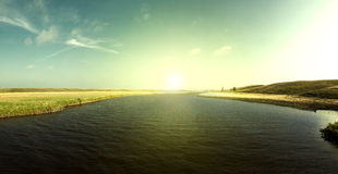 Восход солнца реки Джима Стоковая Фотография