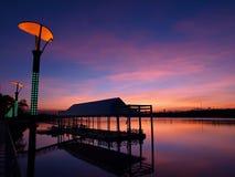 Восход солнца реки Стоковая Фотография RF