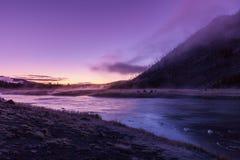Восход солнца реки Madison Стоковое Фото