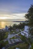 Восход солнца роскошного курорта Стоковые Изображения RF