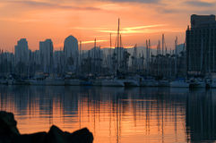 Восход солнца Сан-Диего Стоковое Фото