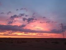 восход солнца Сахары пустыни Стоковое Изображение