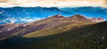 Восход солнца скалистой горы Колорадо Стоковое фото RF