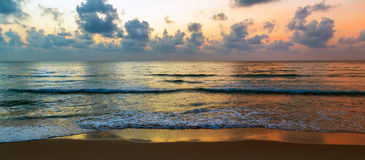 Восход солнца Солнце захода солнца предпосылки Стоковые Фотографии RF
