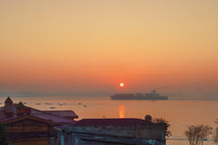 Восход солнца Стамбула Стоковое Фото