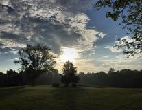 Восход солнца страны Стоковые Изображения