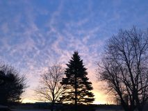 Восход солнца страны Стоковое фото RF