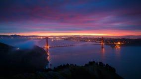 восход солнца строба моста золотистый Стоковые Изображения