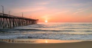 Восход солнца с 14-ой пристани st Стоковые Фото