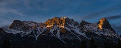 восход солнца Теннесси США большого национального парка гор горы закоптелый Стоковое Изображение RF