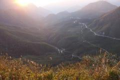 восход солнца теплый Стоковая Фотография RF