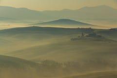 восход солнца Тоскана Стоковые Фото