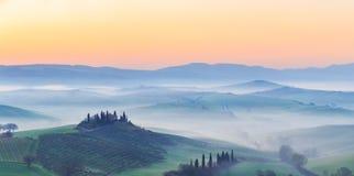 восход солнца Тоскана Стоковое фото RF