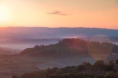 восход солнца Тоскана Стоковые Изображения RF
