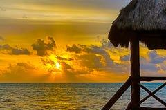 восход солнца тропический Стоковое Изображение RF