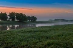 восход солнца тумана Стоковое фото RF